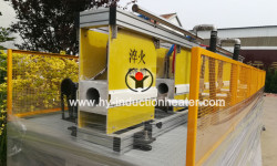 Drill pipe hardening and tempering line