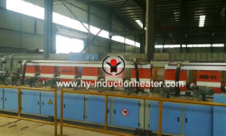 Grinding rod hardening and tempering line