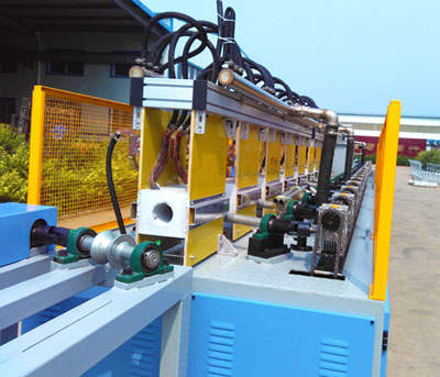 Grinding rod quenching tempering line