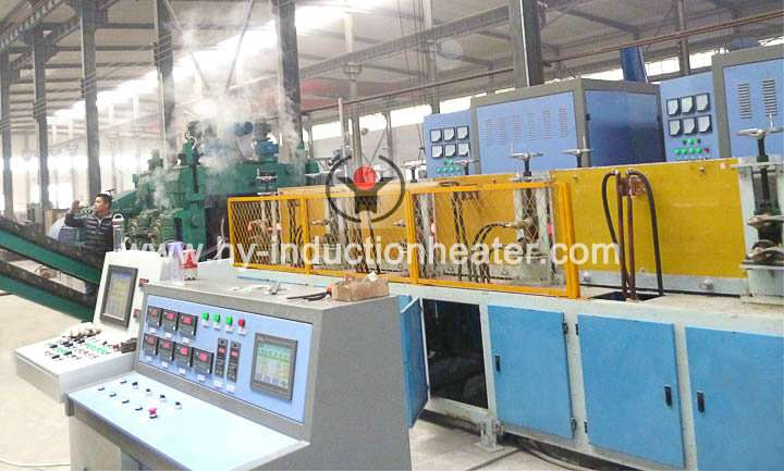 Heating furnace for steel ball hot rolling