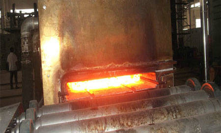 Heating steel plate for rolling