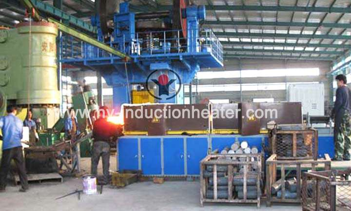 Induction furnace for forging