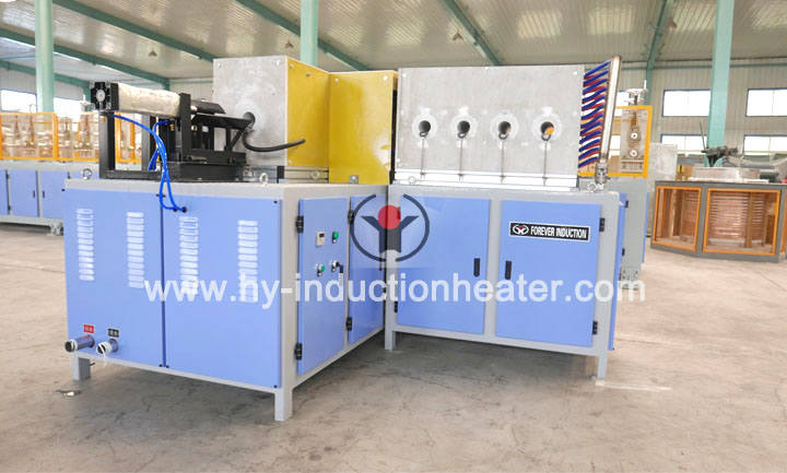 Induction heating furnace for forging