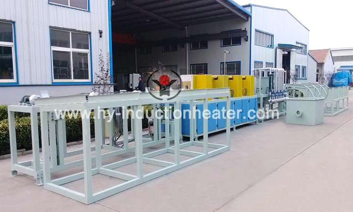 Induction pipe heating furnace