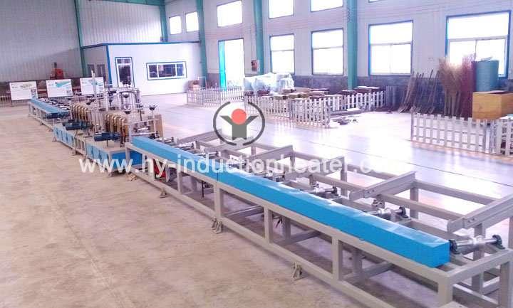 Induction steel bar heating furnace
