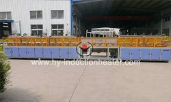 Long bar induction hardening and tempering line
