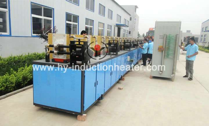 Rebar hot rolling heating system