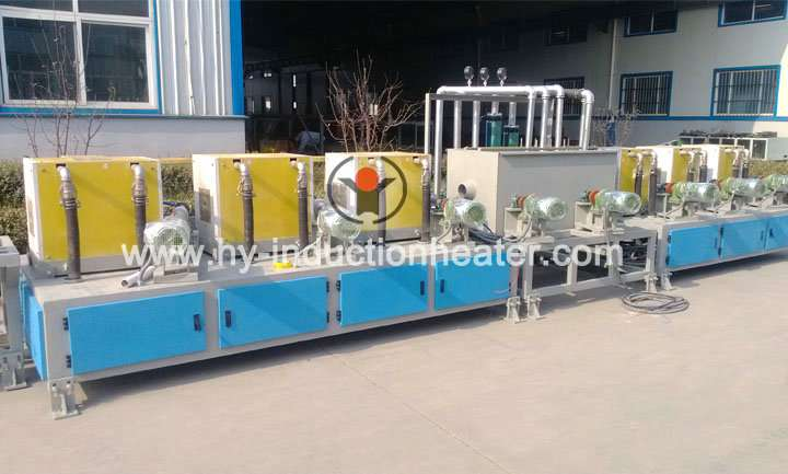 Round bar hardening and tempering furnace