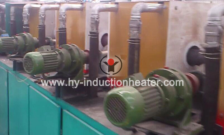 Round bar heat treatment line