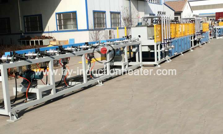 Round bar heat treatment production line