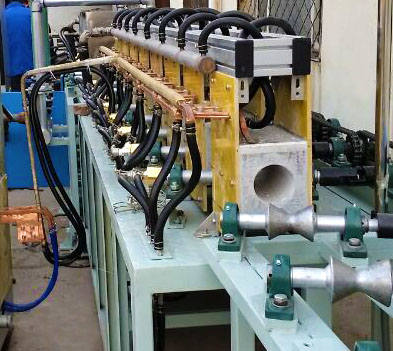 Round bar quenching tempering line