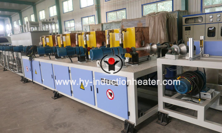 Screw rod hardening and tempering line