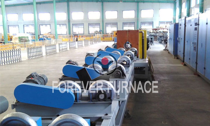 Seamless steel pipe annealing line