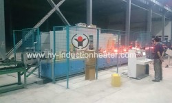 Spring steel strip heat treating furnace