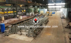 Stainless steel hardening and tempering line
