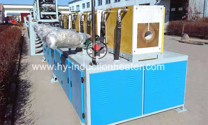 Steel pipe induction heating system