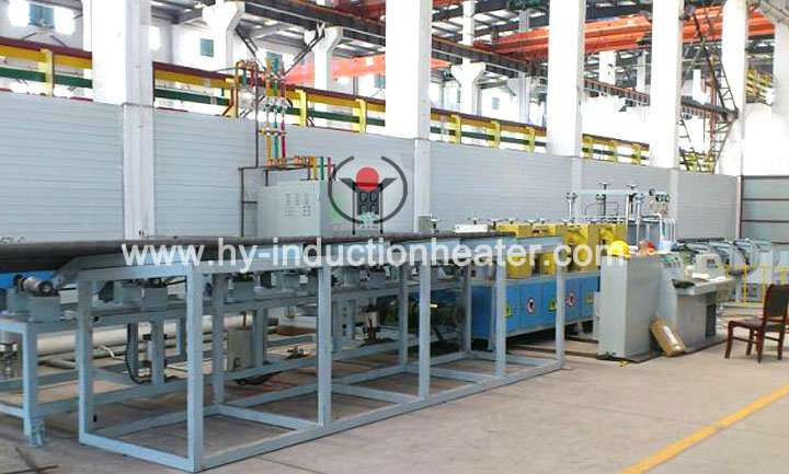 Steel pipe quenching line