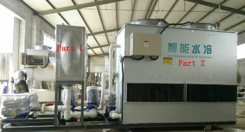 closed cooling machine