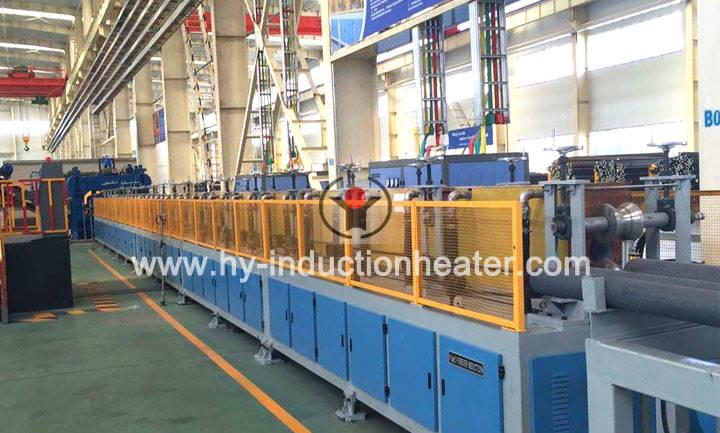 Heating steel bar induction furnace
