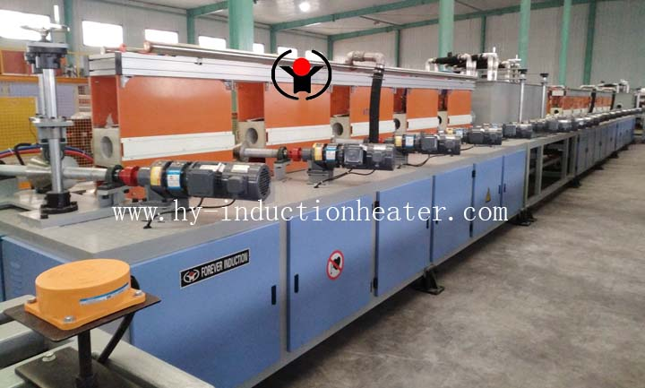 Threaded bar induction hardening and tempering furnace