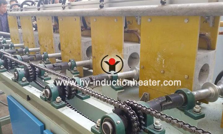 Horizontal shaft quenching machine
