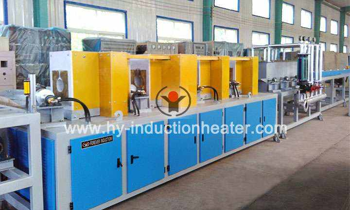 Induction hardening quenching