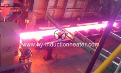 Induction slab heating