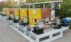 Inline induction billet heater