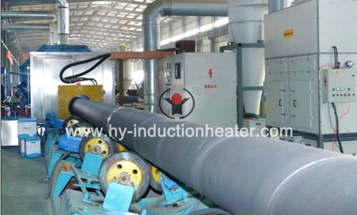 Pipeline induction heating