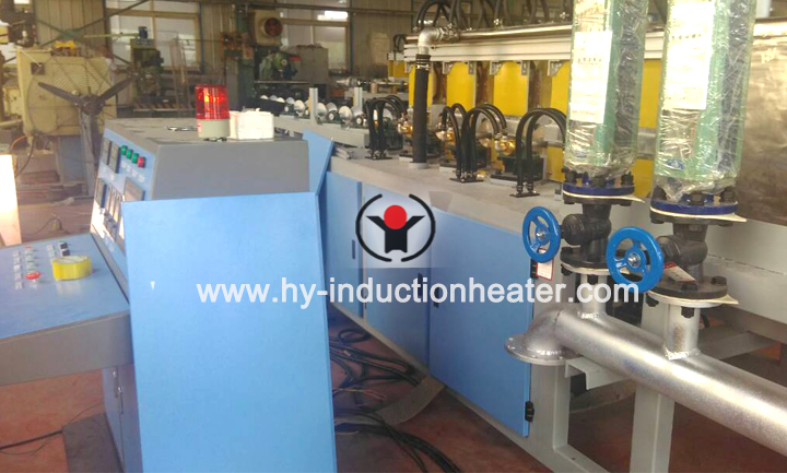 Shaft heat treatment line