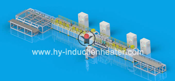 single hydraulic prop quenching tempering line