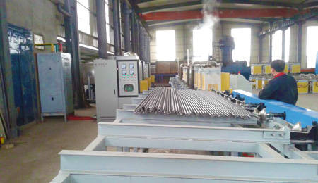 stainless steel hardening tempering line