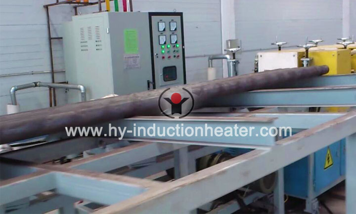 Steel bar heat treatment line