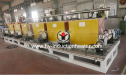 Steel billet continuous casting and rolling heating furnace