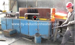 Steel slab induction heating system