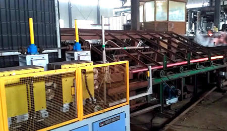 steel tube heating for rolling